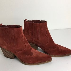 Sam Edelman pull on suede booties size women's 8.5